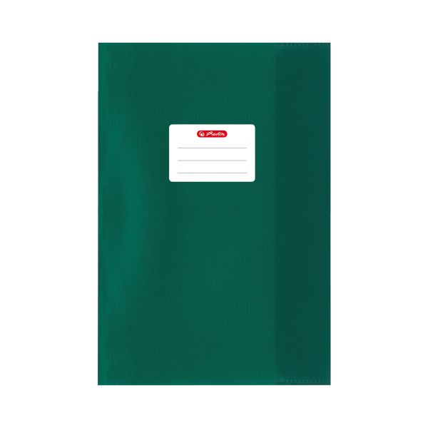 exercise book cover A5 structure of bast dark green