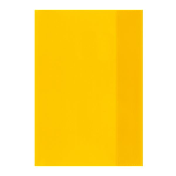 exercise book cover A5 transparent yellow