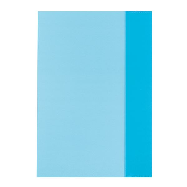 exercise book cover A5 transparent blue