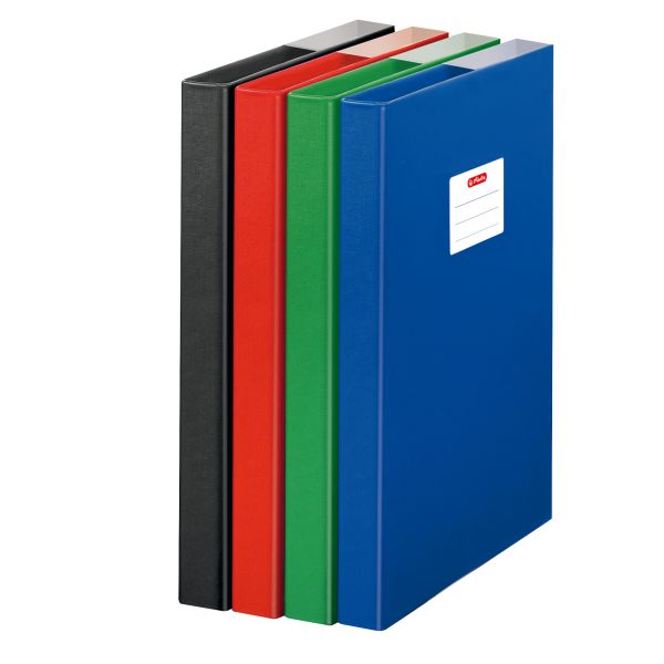 file box A4 PP assorted colours
