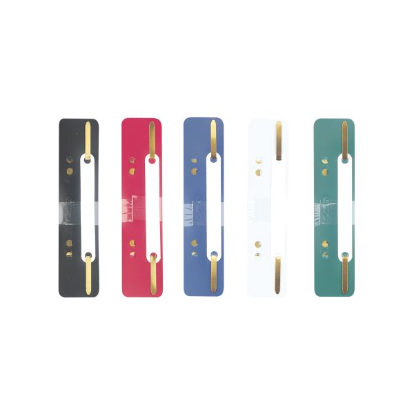 filing strip PP assorted colours 25 pieces