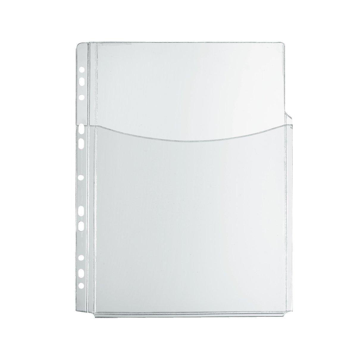 Herlitz 975433/Cartelline A4/PP con copertina trasparente rosso A5 bianco 10/pezzi