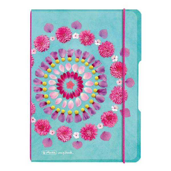Notebook flex PP A5, 40 sheets, squared Flowers, my.book