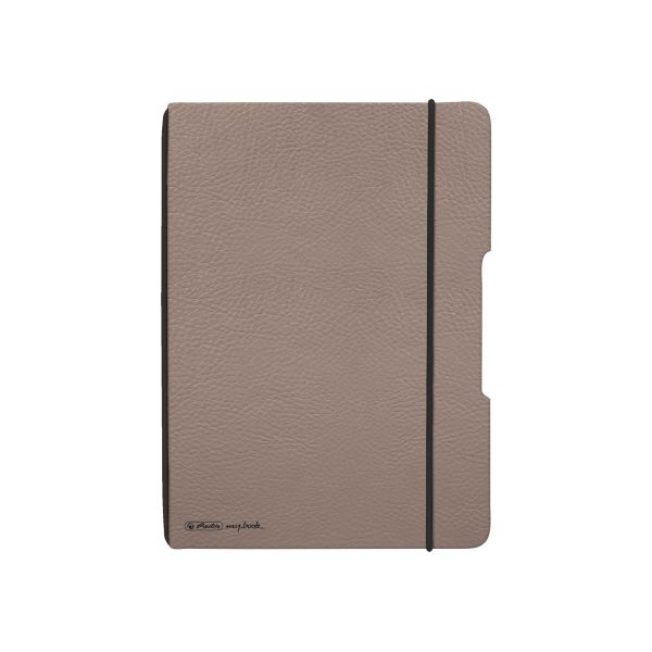 Notebook flex leather like A5,40 sheets, squared taupe, my.book