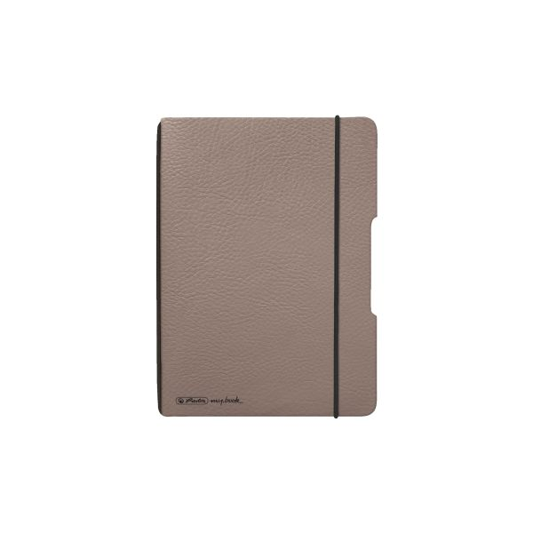 Notebook flex leather like A6,40 sheets, squared taupe, my.book