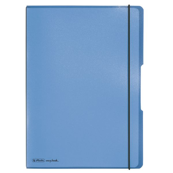 Notebook flex PP A4, 40sheets squared and 40sheets ruled, blue, punched, microperforation my.bbok