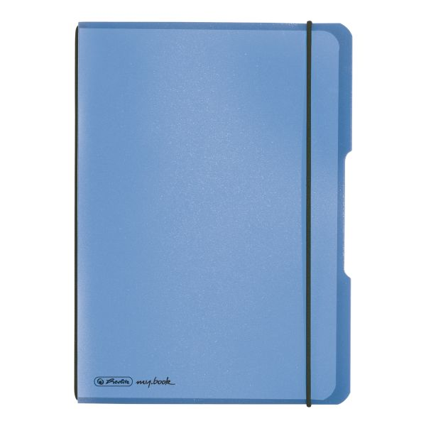 Notebook flex PP A5, 40 sheets, squared blue, my.book