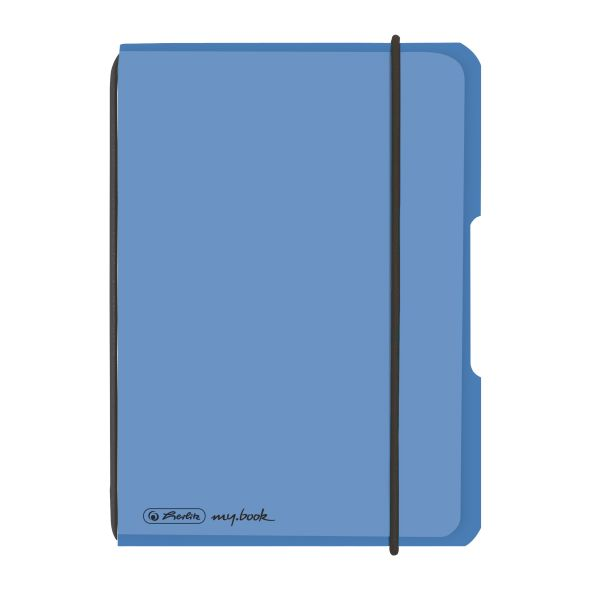 Notebook flex PP A6, 40 sheets, squared blue, my.book