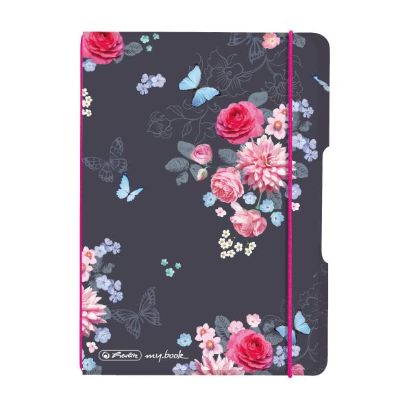 Notebook flex PP A6, 40 sheets, squared Ladylike Flowers, my.book