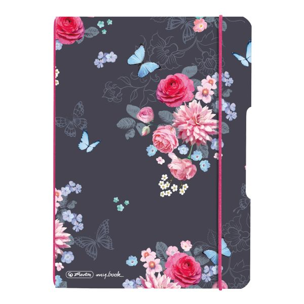 Notebook flex PP A5, 40 sheets, squared Ladylike Flowers, my.book