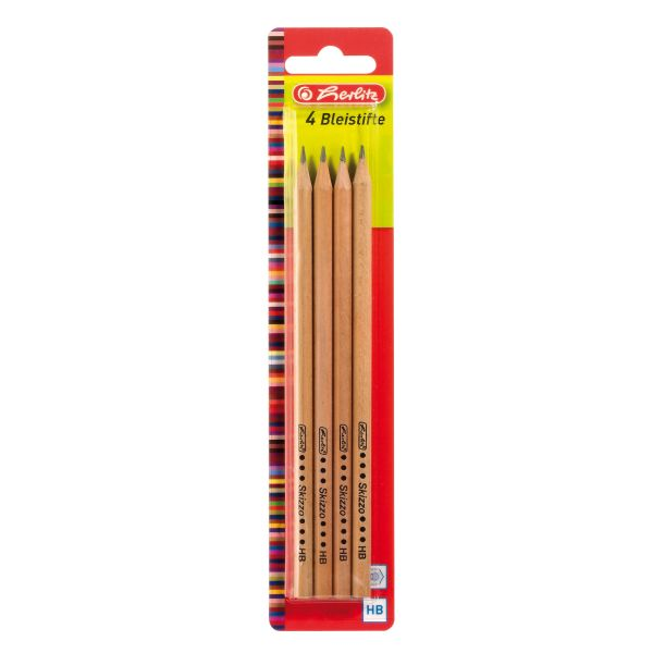 pencils Skizzo natural HB 4 pieces on blistercard