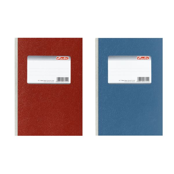 diary A5 72 sheets squared bound colours red and blue