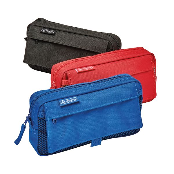 pencil pouch with 2 add.bags colours assorted