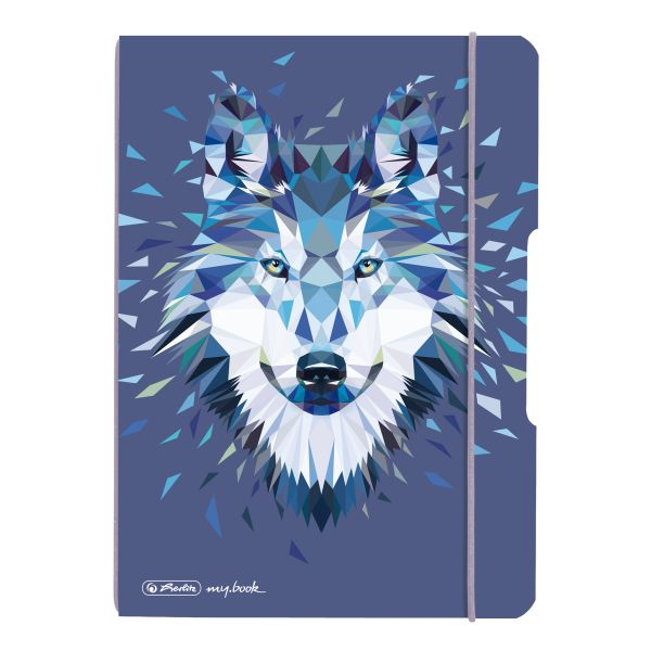 Notebook flex PP A5, 40 sheets, dotted Wild Animals Wolf, my.book