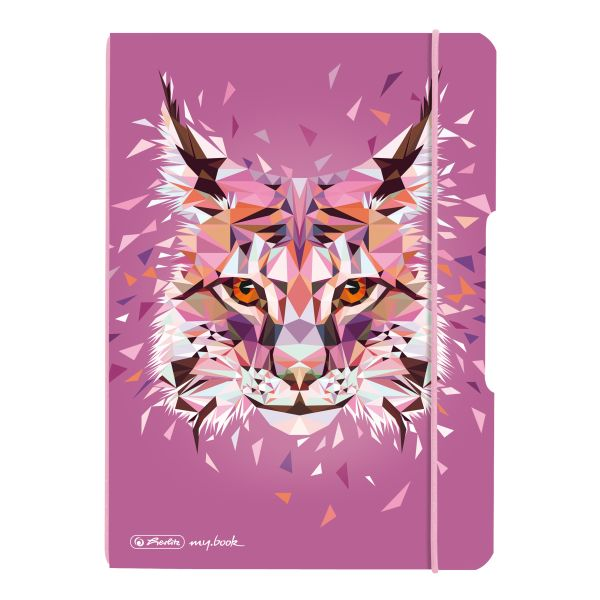 Notebook flex PP A5, 40 sheets, dotted Wild Animals Lynx, my.book