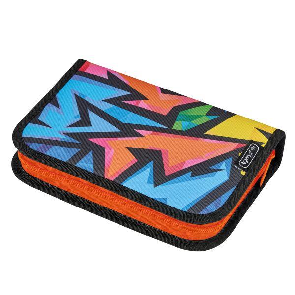 pencil case empty, 2 flaps Neon Art