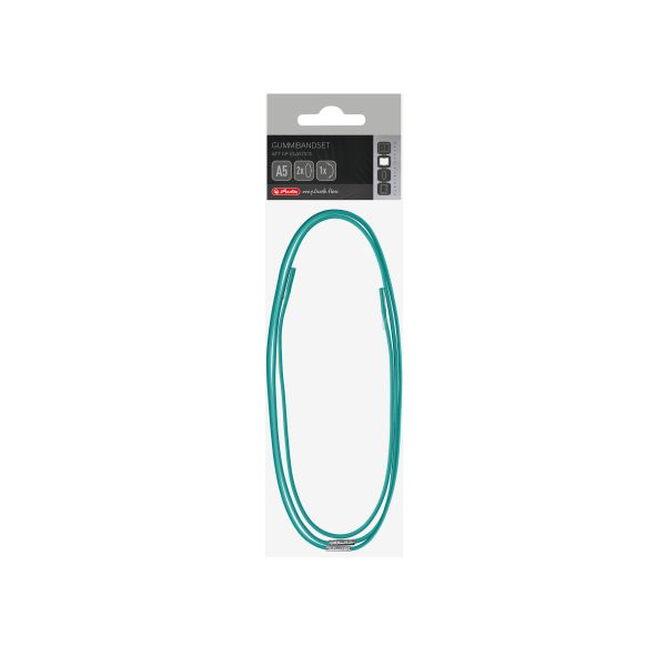Set of elastics flex A5 turquoise, in polybag