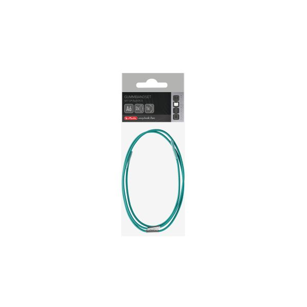 Set of elastics flex A6 turquoise, in polybag