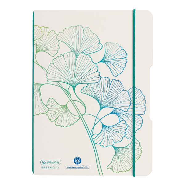 Notebook flex A5/40, dotted, GREENline, motif Ginkgo