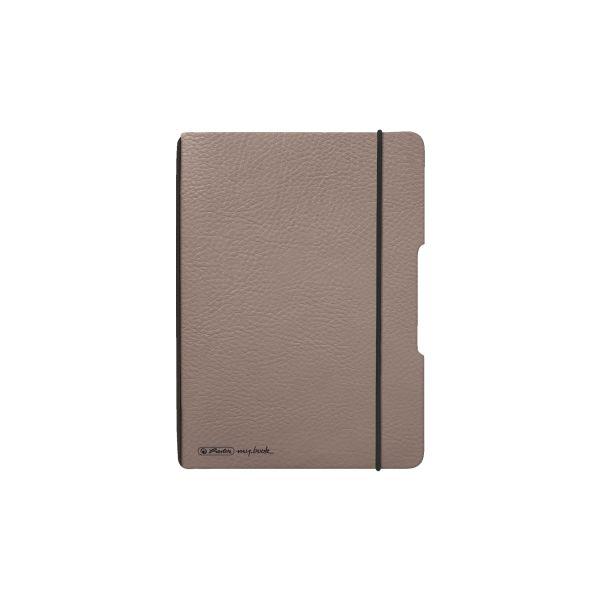 my.book flex füzet A6 bőrhatású barna, 70g/m2