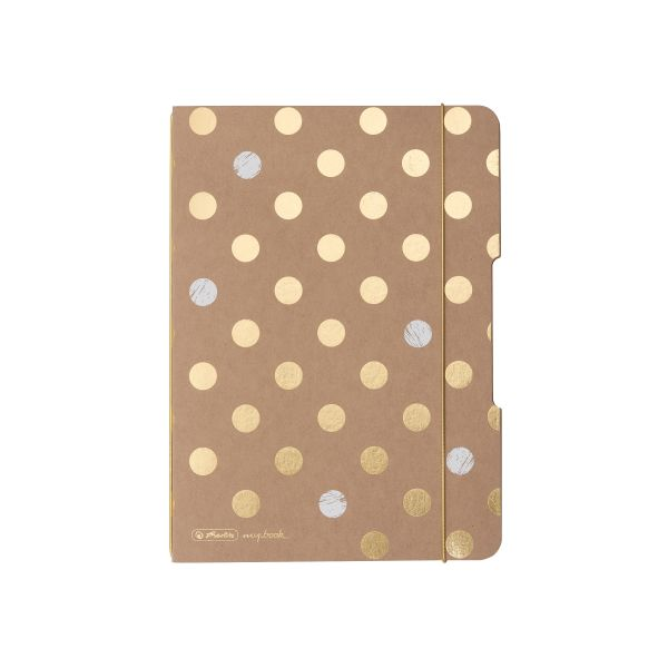 my.book flex füzet A5, 40 lap, pöttyözött belív Pure Glam