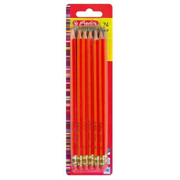 Ołówki Scolair z gumką