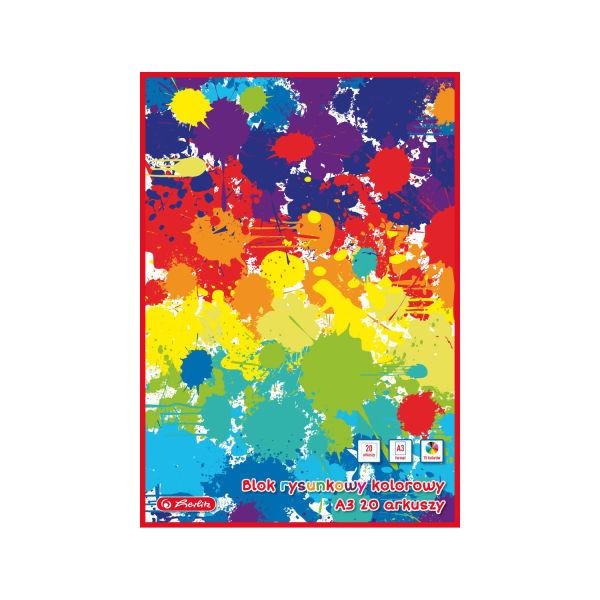 Blok rysunkowy A3, 20 kartek, kolorowy