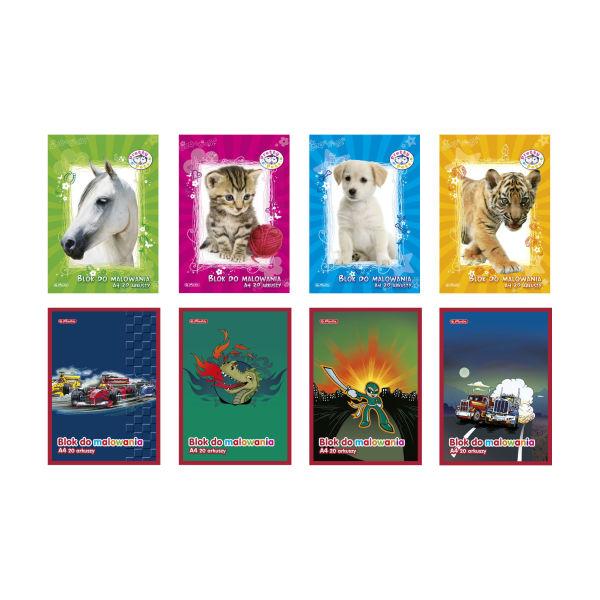 Blok do malowania A4, 50 kartek Dziewczęco-Chłopięcy