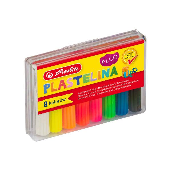 Plastelina fluorescencyjna, 8 kolorów