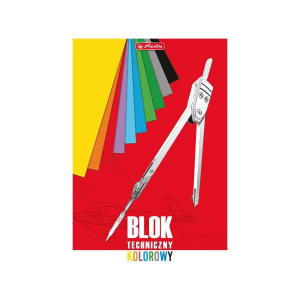 Blok techniczny A3 10 kartek, kolorowy