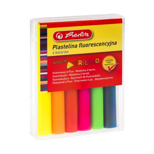 Plastelina fluorescencyjna, 6 kolorów