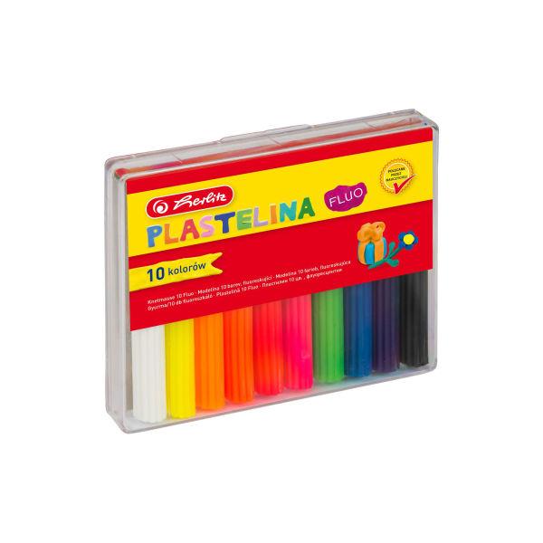 Plastelina fluorescencyjna, 10 kolorów