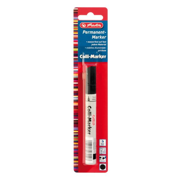 Marker permanent Coli 1-4 mm negru
