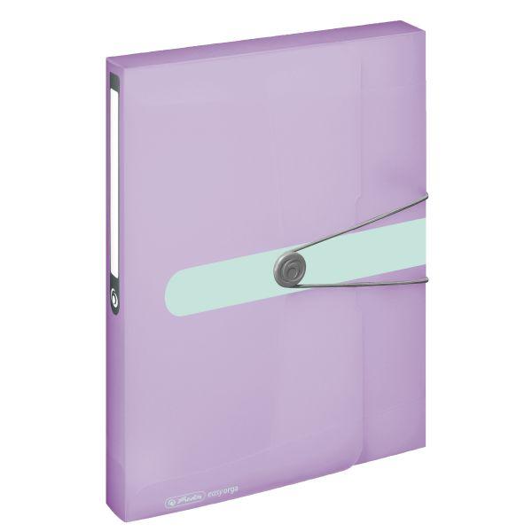 папка для документов А4 РР прозрачная сиреневая