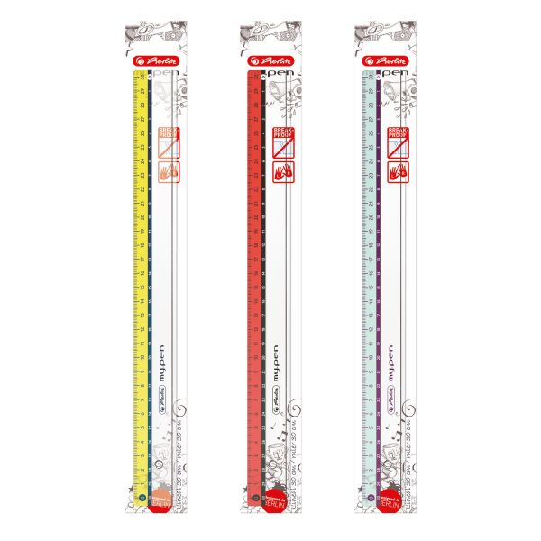 Линейка my.pen пластиковая 30 см, цветная