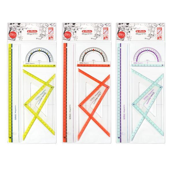 геометрический набор my.pen, 4 части, пластик
