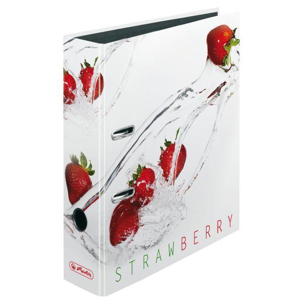 папка-скоросшиватель maX.file А4 5 см, Fresh Fruit Strawberry