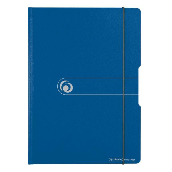 папка с зажимом полифом А4 синяя