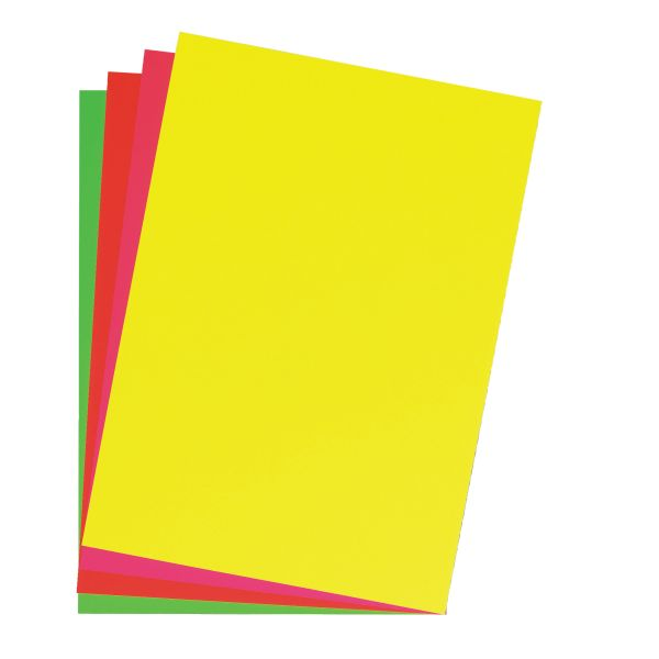 Картон плакатный 46х68 см, ярко-желтый