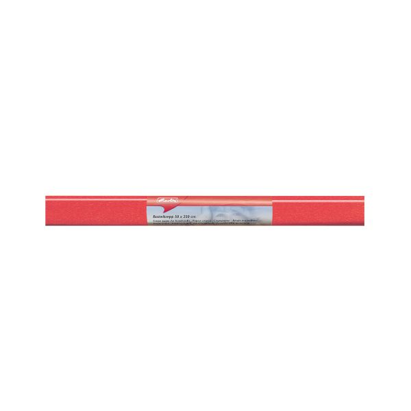 Бумага поделочная креп 50х250 см, оранжевая