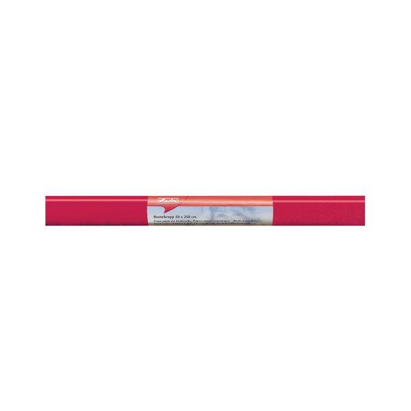Бумага поделочная креп 50х250 см, красная