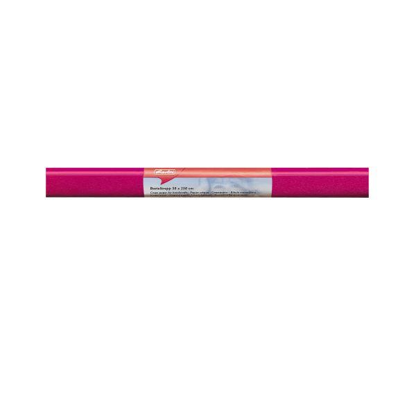 Бумага поделочная креп 50х250 см, розовая