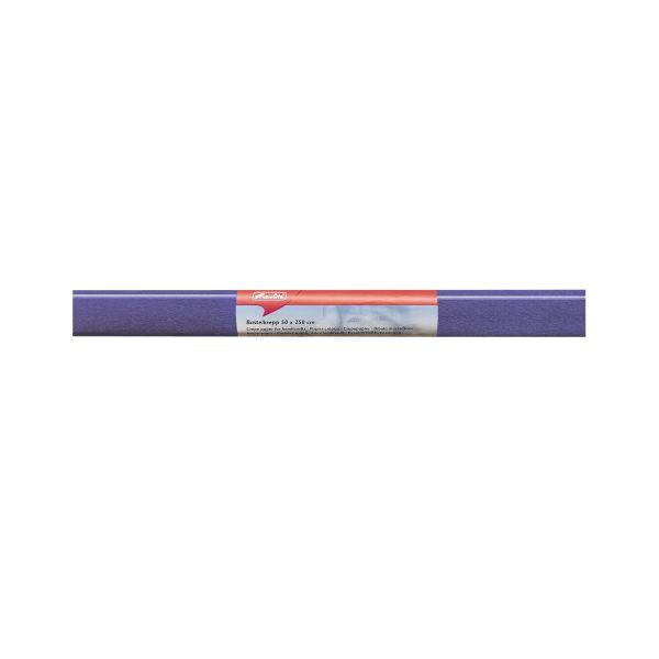 Бумага поделочная креп 50х250 см, синяя