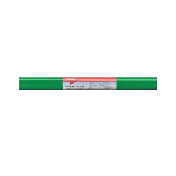 Бумага поделочная креп 50х250 см, зеленая