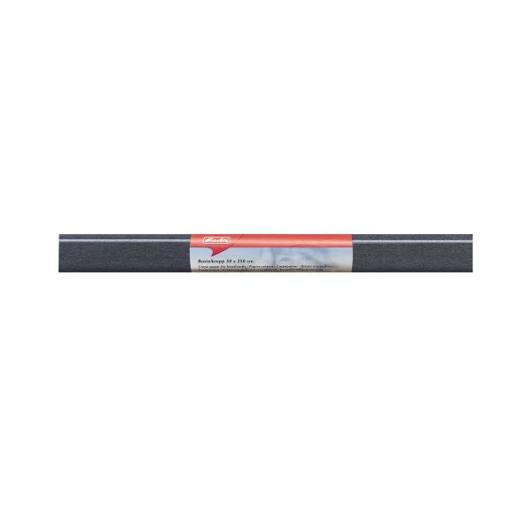 Бумага поделочная креп 50х250 см, черная