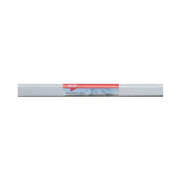 Бумага поделочная креп 50х250 см, серебро