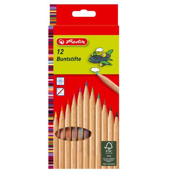 цветные карандаши natural, 12 штук в блистерной упаковке