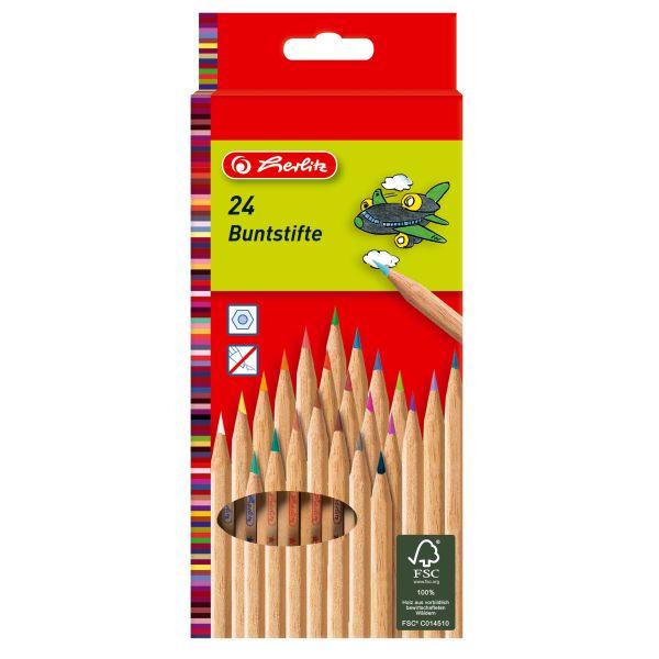 цветные карандаши natural, 24 штуки в блистерной упаковке