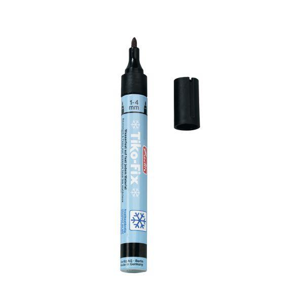 ручка для пластиковых поверхностей Tiko-Fix, черная, на блистере