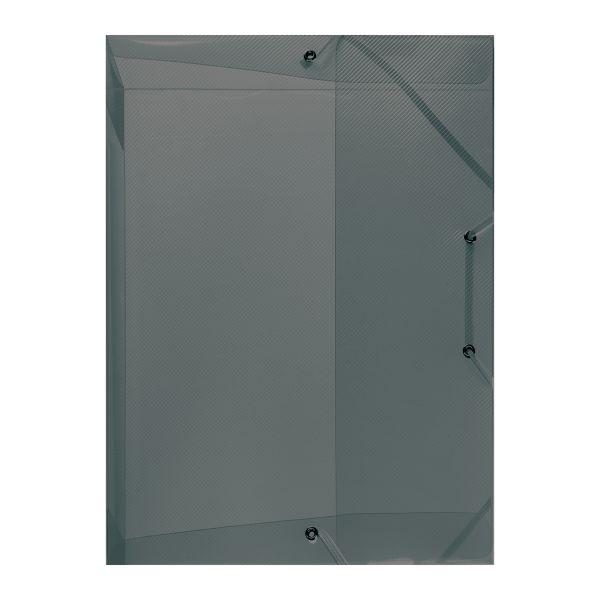коробка для документов А4 PP полупрозрачный серый